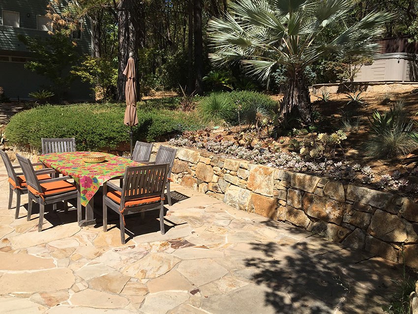 Flagstone Pool Patio And Retaining Walls