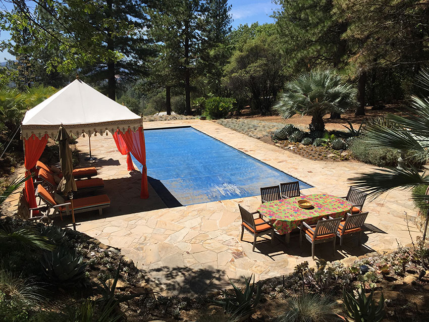 Flagstone Pool Patio And Retaining Walls